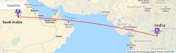 كم ساعه بالطائرة من الرياض الى الهند من الرياض الى الهند كم ساعه المسافة من الرياض الى الهند سوبر مجيب