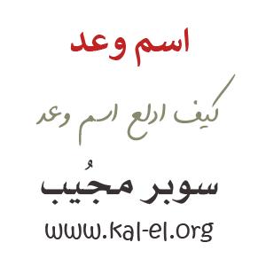 دلع اسم وعد ماهو دلع وعد تدليع اسم وعد وش دلع اسم وعد كيف ادلع اسم وعد Waad سوبر مجيب
